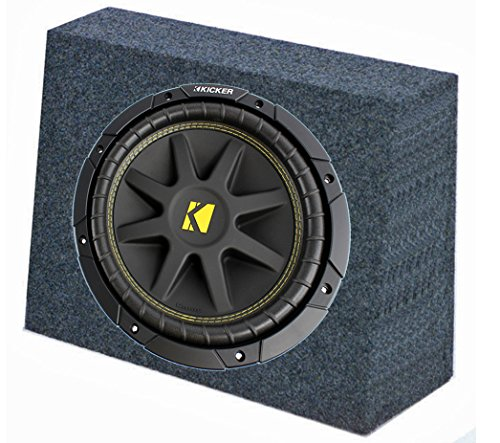 ASC Package Single 10' Kicker Sub Box Regular Cab Truck Subwoofer Enclosure C10 Comp 300 Watts Peak