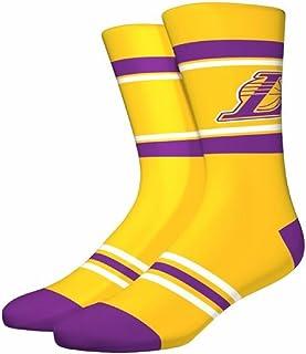 Pkwy NBA mens Stripe Crew Socks