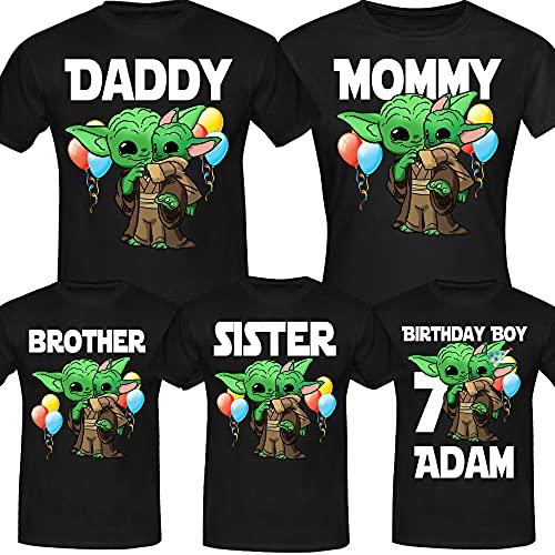 Personalised Baby Y.o.d.a Funny Birthday Cute Birthday Boy, Custom Birthday Shirt, Custom Age Shirts, Family Birthday Gifts Shirt Long Sweatshirt Hoodie Black