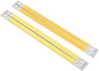 2Pcs Slim COB LED Strip Light 10W 12-24V Pure/Warm White 1000LM Bulb for DIY Table Lamp, Pure White