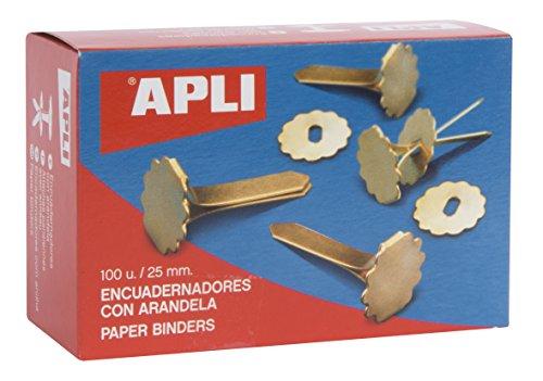 APLI 12577 Boîte de 100 Attaches parisiennes avec oeillets 25 mm