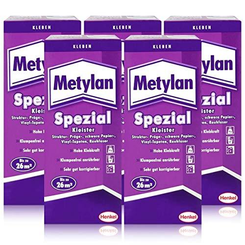 Henkel Metylan Spezial Tapetenkleister mit extra Power 200g (5er Pack)