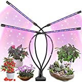 LED Grow Light for Indoor Plant, Fauna Auto ON/Off Timer Full Spectrum Plant Lights 3/6/12H Timing 5 Dimmable Levels for House Garden Hydroponics Succulent Growing