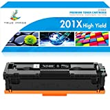 True Image Compatible Toner Cartridge Replacement for HP 201A CF400A 201X CF400X HP Color Laserjet Pro MFP M277dw M277n M277C6 M277 M252dw M252n M252 Toner Printer Ink (Black, 1-Pack)