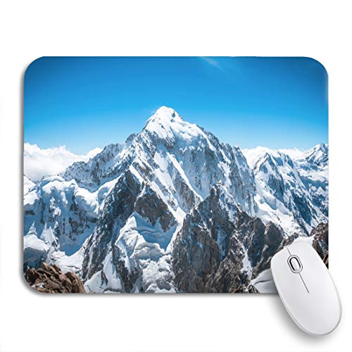 Adowyee Gaming Mouse Pad Blue Mount Mountain Peak Everest National Park Nepal Himalaya 9.5'x7.9' Nonslip Rubber Backing Mousepad for Notebooks Computers Mouse Mats