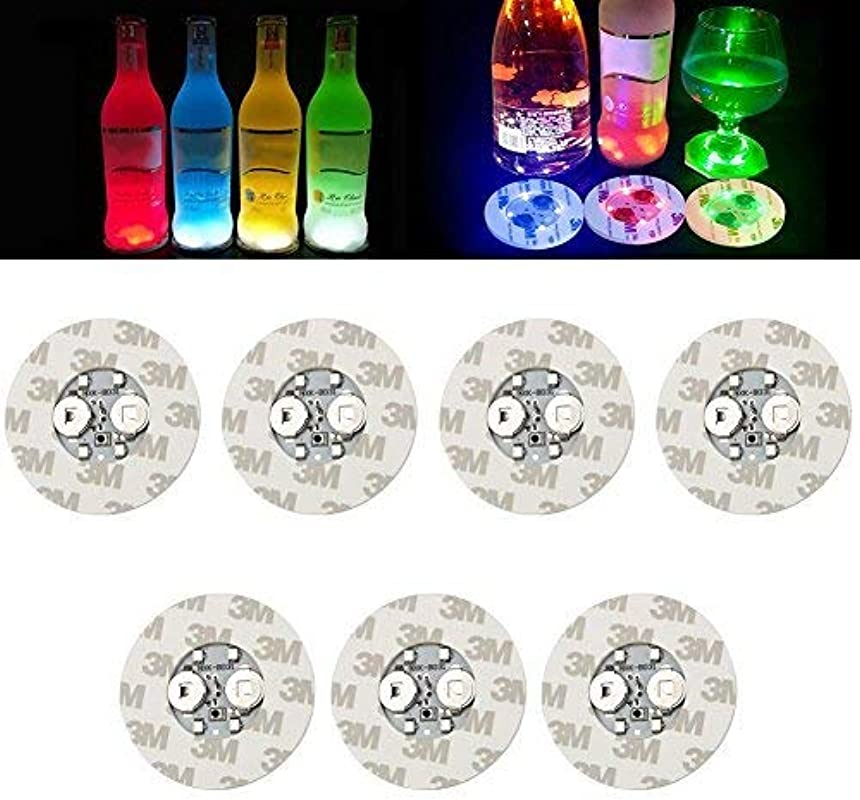 LED Coasters Led Coasters For Drinks Wine Liquor Bottle Clear Glass Cup Coaster Led Bar Night Club Party Drink Bar Wedding Party Decorations 40 Pack Multicolor