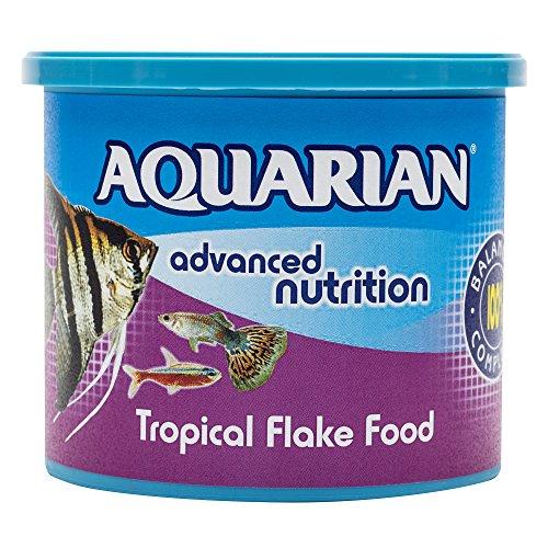 AQUARIAN Complete Nutrition, Aquarium Tropical Fish Food, Flakes, 200 g Container