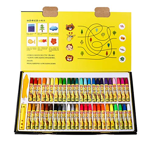 Öl-Pastelle für Kinder, mit Spitzer für Künstler Anfänger Graffiti-Illustration Poster, Buntstifte-Set 48 Farben (7.5*1 cm)