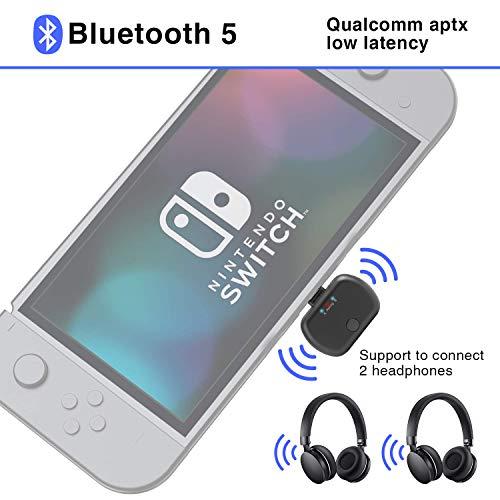 Bigvapor Adaptador Bluetooth transmisor audio Switch