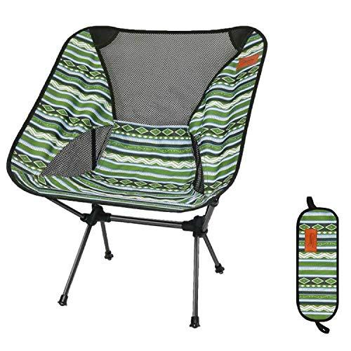 アウトドアチェア 折りたたみ 椅子 超軽量 【耐荷重150kg】 コンパクト イス 収納袋付属 お釣り 登山 携帯便利 キャンプ椅子 006 (YDL緑)