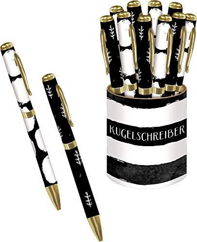 Kugelschreiber - All about black & white: 2 Designs in Displaydose