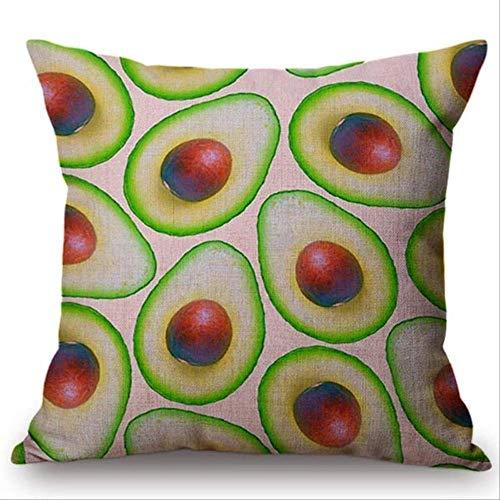 QIANGST Fruit Avocado banana patroon kussen Home Decoration kussenslopen Gift Cute Small Skull kussensloop Almofada
