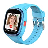 PTHTECHUS 4G Watch Phone for Children - Kids Smart Watch with WiFi, Dail, Voice Messages & Video Calls, GPS Location, Students School Mode, SOS Function, Camera and Pedometer