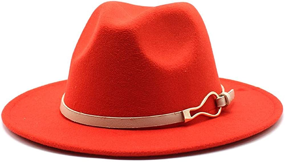 Large discharge sale Women's and Men's Max 71% OFF Fedora Hat Classic Wide Panama Brim Elegant Wo