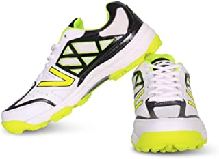 Vector X Atomic Cricket Shoes (White-Black-Green)