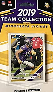 Minnesota Vikings 2019 Donruss Factory Sealed 10 Card Team Set with Kirk Cousins and Kyle Rudolph Plus an IRV Smith Rated Rookie and 7 Other Cards