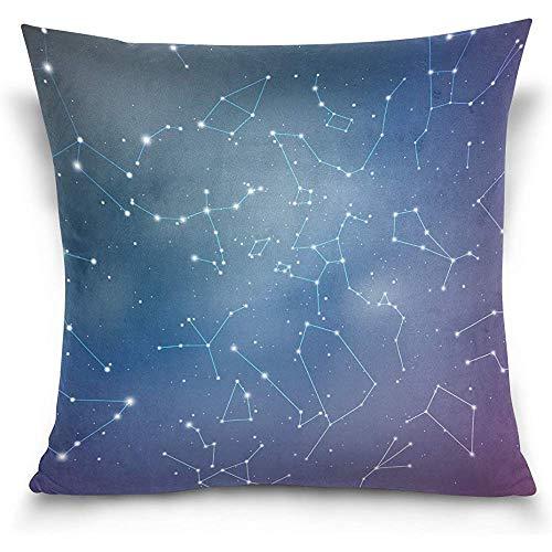 Juli glanzende hemel met sterrenbeelden decoratieve vierkante gooi kussensloop kussensloop voor bank slaapkamer Car-U5Q-811