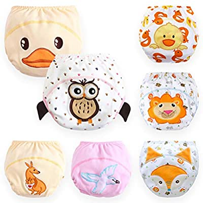 Baby Toddler 7 Pack Toilet Training Pants Nappy Underwear Cloth Diaper L (12-24 months)
