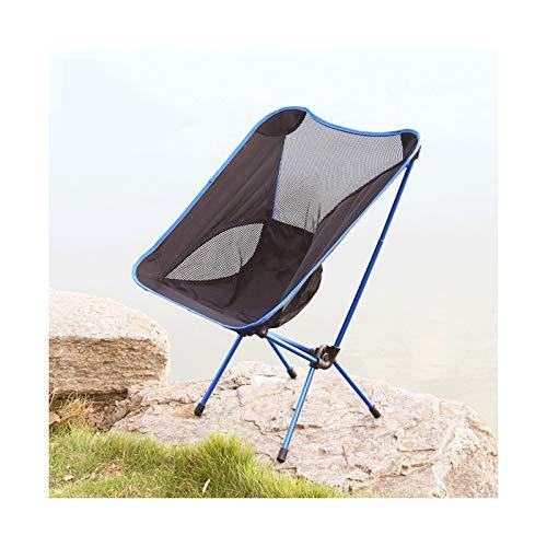 KKLL Sillón Acolchado Moon platillo Silla Plegable portátil al Aire Libre, Silla de Pesca, sillón de Playa de Ocio (Color : Royal Blue)
