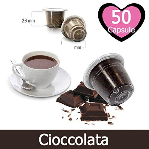 50 Capsule Cioccolata Compatibili Nespresso