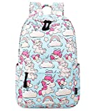 Abshoo Cute Lightweight Unicorn Backpacks Kindergarten Girls Bookbags(Sky Blue)