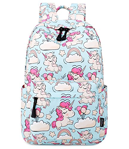 Abshoo Cute Lightweight Unicorn Backpacks Kindergarten Girls Bookbags(Sky Blue)
