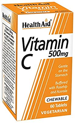 HealthAid Vitamin C - Chewable Vegetarian Tablets, 500mg, 60 Tablets