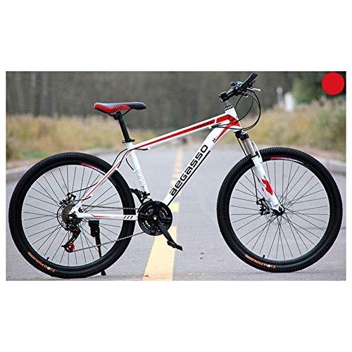 Chenbz Deportes al Aire Libre de 26' Bicicletas de montaña Unisex 2130 plazos de envío Bicicleta de montaña, HighCarbon Marco de Acero, Gatillo Shift (Color : White, Size : 30 Speed)