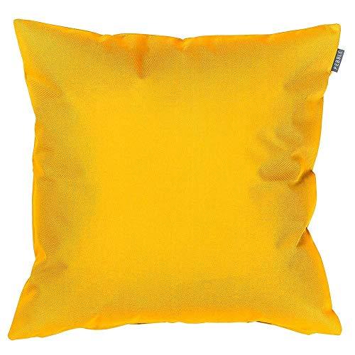 Bean Bag Bazaar Gartenkissen, Gelb, 2er-Pack, 43cm, Kissen Wasserabweisend, Textilfaserfüllung–, Dekoratives Zierkissen für Gartenbänke, Stühle oder Sofas