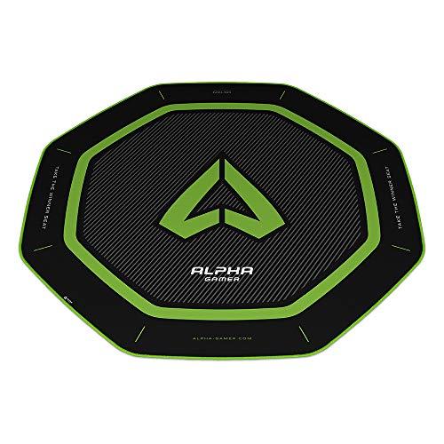 Alpha Gamer Octan - Green (Floor Mat, Alfombra del Suelo, Gaming)