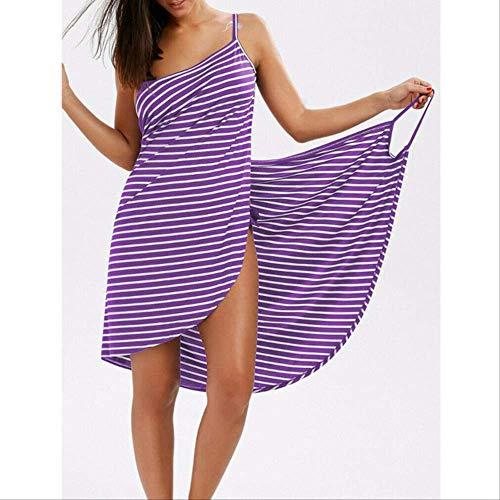 MKHB handdoek vrouwen badjas bad meisje het dragen van een gestreepte handdoek rok sneldrogende Beach Spa magische pyjama om te slapen