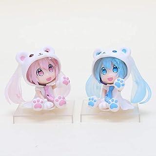 Huawei 6cm söt anime karaktär rosa q version hatsune miku figur sakura björn matsune miku figur modell samling leksak,A