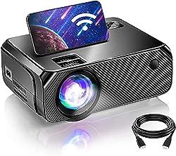 Projecteur d'extérieur 1080P : Résolution améliorée, pixels natifs 720P, plus de flou ni de délavages aux quatre coins, contraste de 9000 : 1, décodage vidéo 1080P, couleurs plus détaillées et plus riches. Profitez d'une nouvelle expérience de home c...