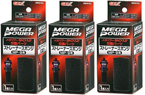ジェックス メガパワー 9012用 ストレーナースポンジ MP-9 観賞魚用品 ×3個 (まとめ買い)