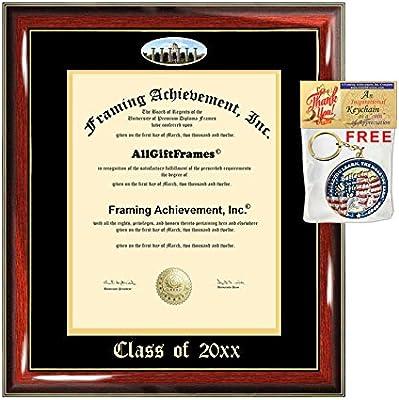 Amazon.com: Dos marcos de matrícula Engrave College con ...