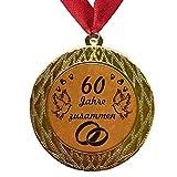 Larius Group Medalla Orden 60 años juntos boda diamante diamante boda boda boda boda boda (con collar)