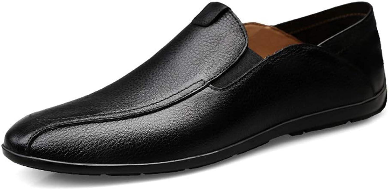 Slip On Driving Loafer for Men Boat Moccasins OX Leather Side Elastic shoes Cricket shoes