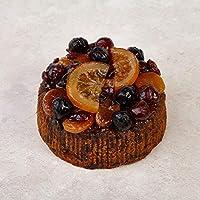 Cakeology Co. Bakery - Pastel de 14 cm en lata - Pastel de frutas con brandy, decorado a mano con frutas glaseadas, 765 g