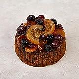 Cakeology Co. Bakery - Pastel de regalo de 10 cm en lata - Pastel de frutas con brandy, decorado a mano con frutas glaseadas, 305 g