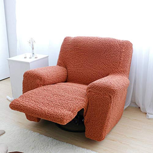 Sillón Relax Funda de Sofá, Funda para Sofá Elástica Extraíbles Lavable Funda Cubre Sofá Protector para Sofá Adecuado para Sala de Estar Mascota Niños-2 Seater (150-200)cm(59-79)pulgada-naranja