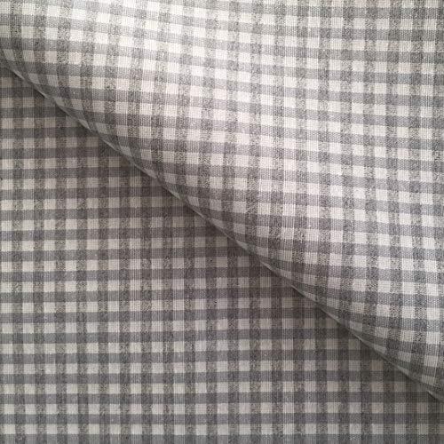 Nappe ronde en coton vichy gris clair facile à nettoyer - diamètre 160 cm
