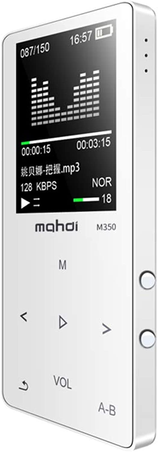 MP3 Player, 16G blueeetooth Portable Lossless Sound MP3 Music Players, Digital Audio Music Player with FM Radio Voice Recorder,White,4g
