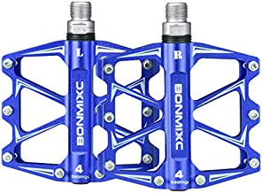 BONMIXC Bicycle Pedals 9/16 Sealed Bearing Ultralight Weight Strong Structure Mountain Bike Pedals Alloy Road Bike Pedals