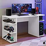 Mesa para Computador Gamer Escrivaninha 9409 Madesa - Branco
