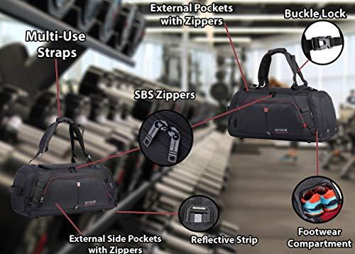 RUIGOR Motion 12 multifunktionale Herren Sporttasche Reisetasche 35 l wasserabweisend mit Schuhfach RGL6412