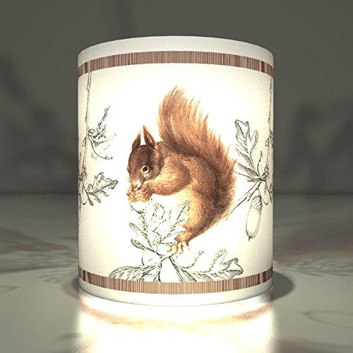 5 Jolies lanternes-photophores decoratives pour l'hiver avec l'écureuil pour Noël, décoration de l'Avent atmosphérique pour la table