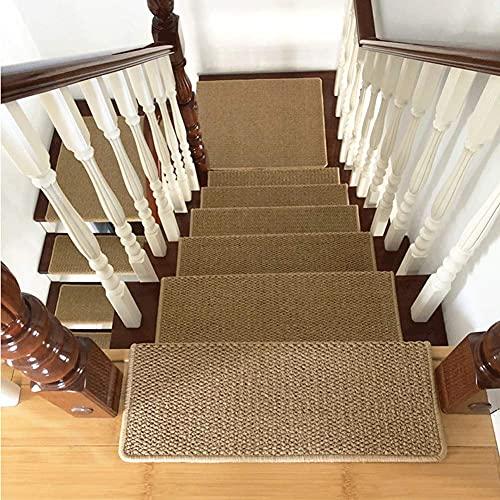 YWYW Almohadillas para escaleras de Madera, alfombras aptas para Mascotas, Fundas para alfombras Antideslizantes, Antideslizantes y Lavables, Autoadhesivas y de fácil instalación, Beige (Color