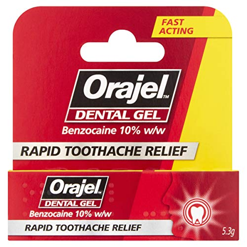 Orajel dental gel for acute toothache