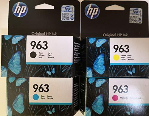 Preisvergleich Produktbild HP 963 Set 4 Originalpatronen für HP Officejet Pro 9010,  9012,  9015,  9016,  9019,  9020,  9022,  9025