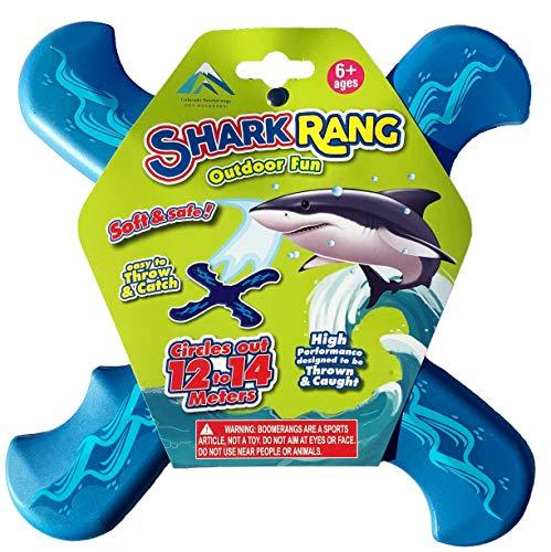 Shark Rang Boomerang - Great Beginner Boomerang for Kids or Adults. Soft and Safe.